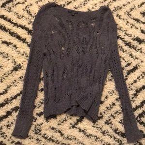 AEO grey with blue undertone oversized sweater